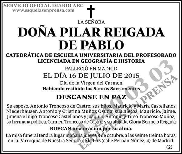 Pilar Reigada de Pablo